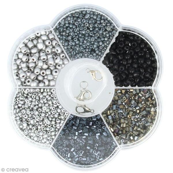 Assortiment de perles en plastique Artemio - Noir - 130 g - Photo n°1