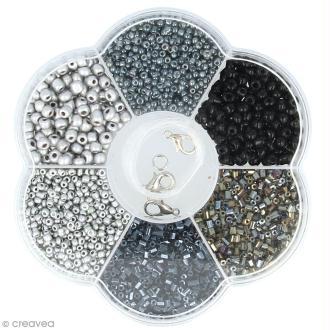 Assortiment de perles en plastique Artemio - Noir - 130 g