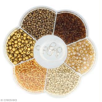 Assortiment de perles en plastique Artemio - Doré - 130 g