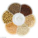 Assortiment de perles en plastique Artemio - Doré - 130 g - Photo n°1