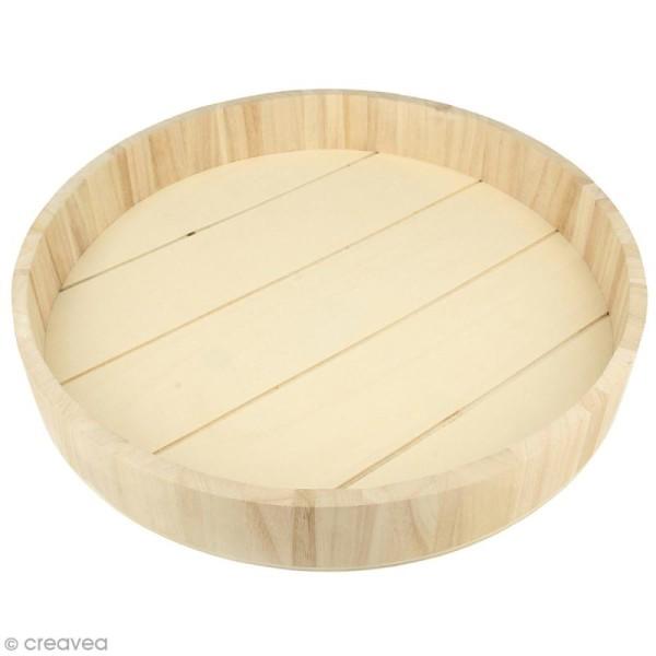 plateau rond en bois brut 35 x 5 cm plateau 224 d 233 corer creavea
