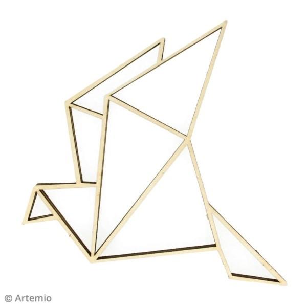 Forme en bois à décorer - Cocotte origami - 20 x 20 cm - 2 pcs - Photo n°2