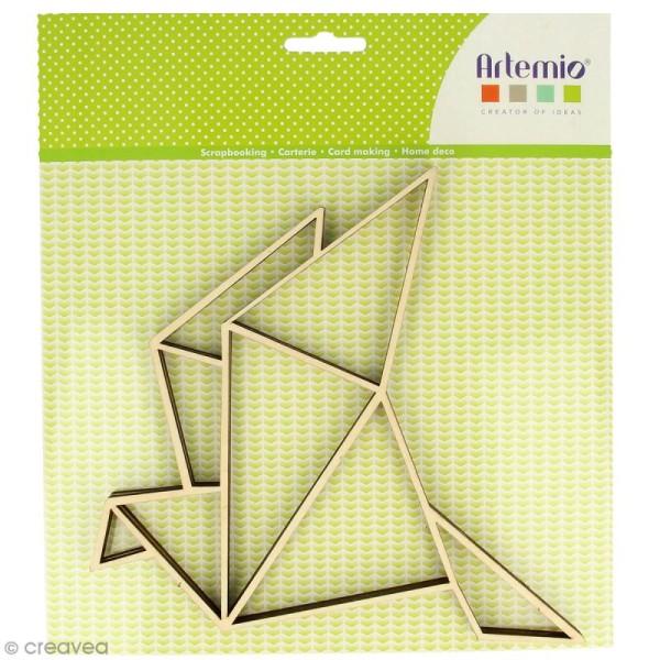 Forme en bois à décorer - Cocotte origami - 20 x 20 cm - 2 pcs - Photo n°1