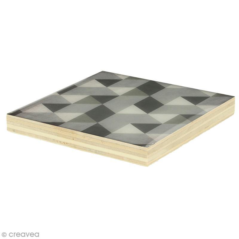 Planches de bois pour string art - 8 x 8 cm - 2 pcs - Photo n°2