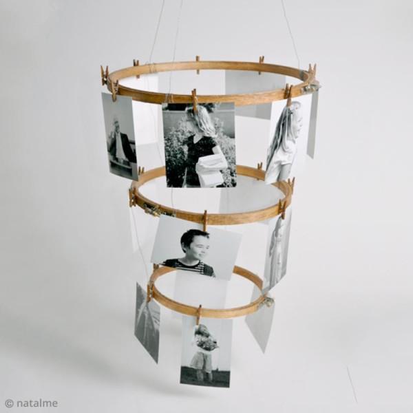 Cadre tambour broderie - Rond effet Bois à broder - 13 cm - Photo n°5