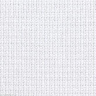 Toile à broder Aida prédécoupée - 5,5 pts/cm Blanc - 35 x 45 cm