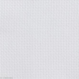 Toile à broder Aida prédécoupée - 7 pts/cm Blanc - 35 x 45 cm