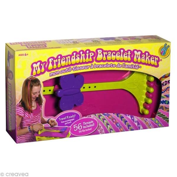 Métier à tisser - Coffret bracelets de l'amitié - 14 fils - Photo n°1