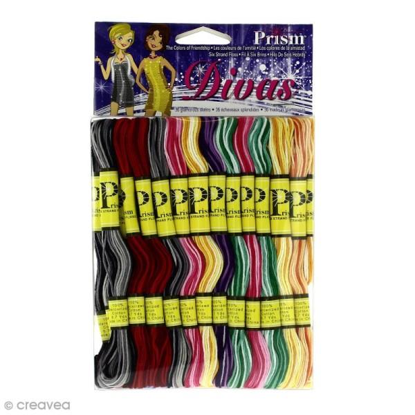 Fil coton mouliné Prism - Modèle Divas - 36 échevettes de 8 mètres - Photo n°1
