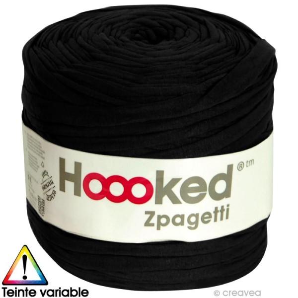 Zpagetti Hoooked DMC - Pelote Jersey Noir - 120 mètres - Photo n°1