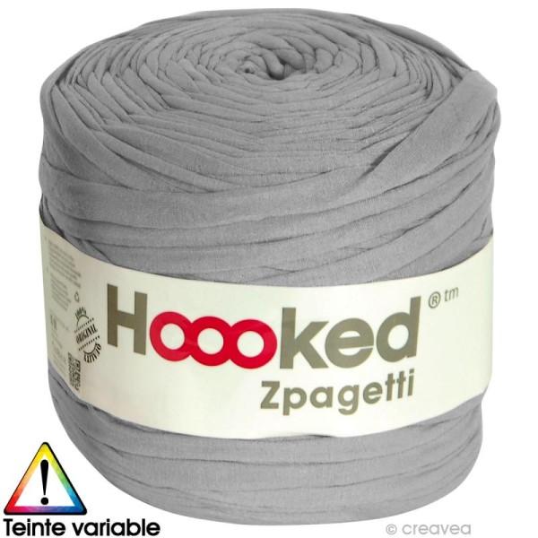 Zpagetti Hoooked DMC - Pelote Jersey Gris - 120 mètres - Photo n°1