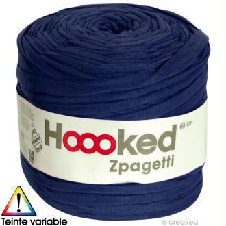 Zpagetti Hoooked DMC - Pelote Jersey Bleu Marine - 120 mètres