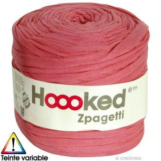 Zpagetti Hoooked DMC - Pelote Jersey Rose Rouge - 120 mètres