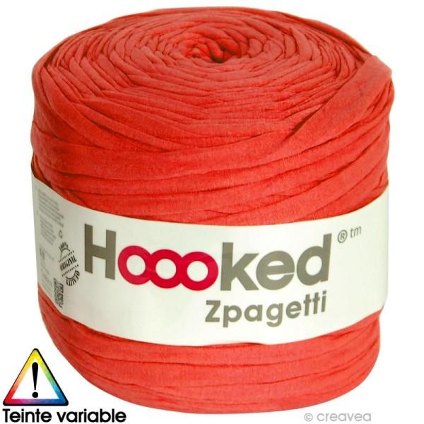 Zpagetti Hoooked DMC - Pelote Jersey Rouge - 120 mètres - Photo n°1