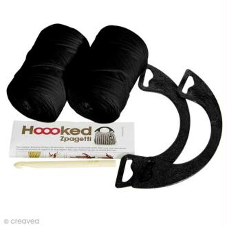 Kit Hoooked Zpagetti - Sac Milano Noir - Crochet et tricot