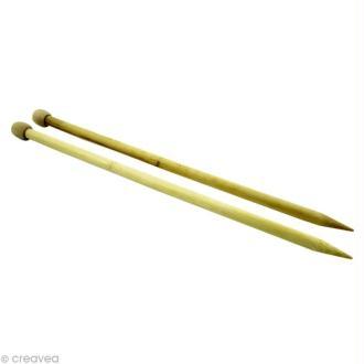 Aiguilles à tricoter en bambou XL - 12 mm x 35 cm
