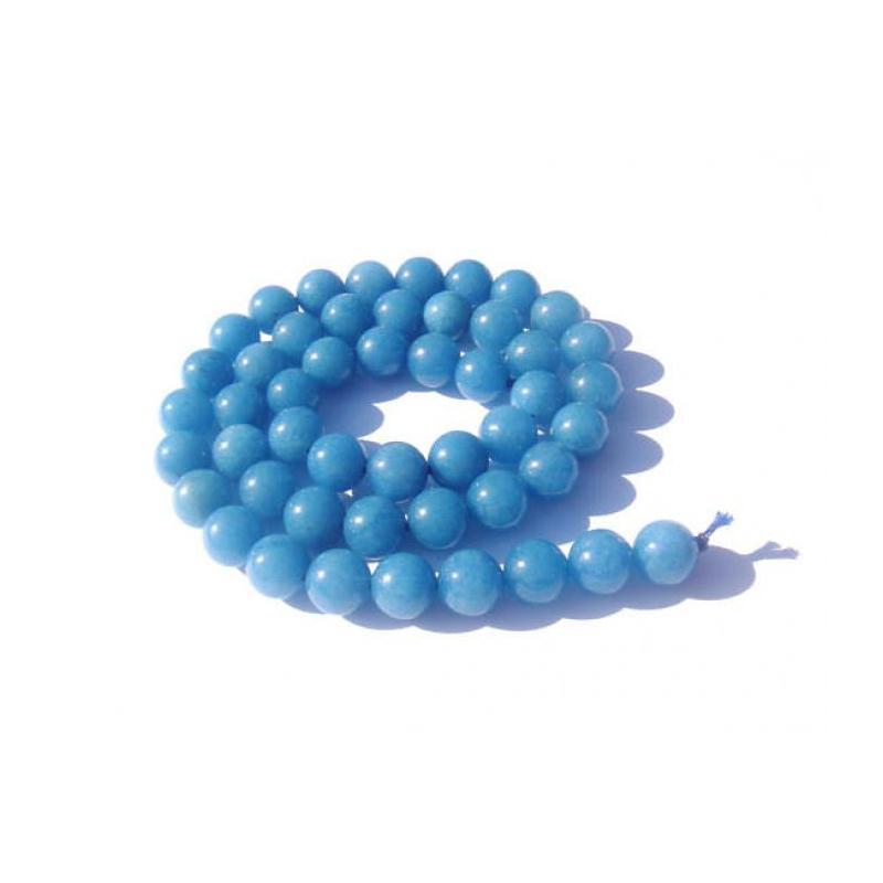 jade teint bleu 10 perles 8 mm de diam tre perle. Black Bedroom Furniture Sets. Home Design Ideas