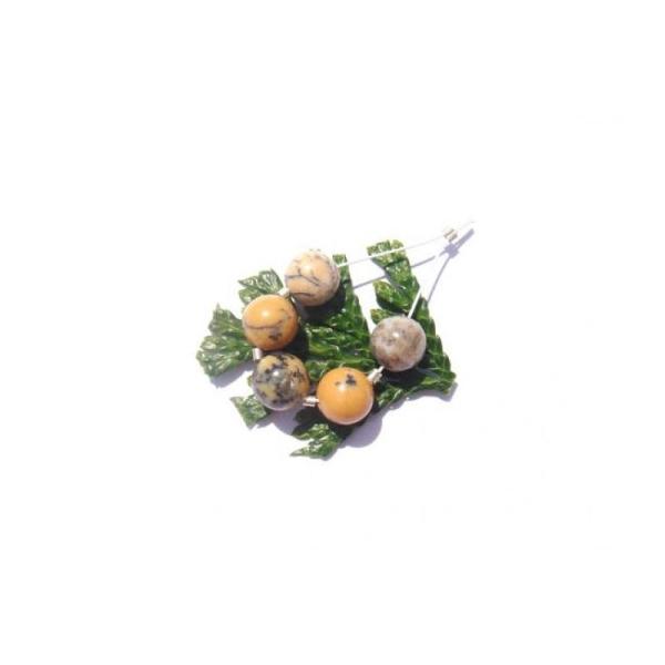 Opale Jaune : 5 Perles 8 MM de diamètre - Photo n°1