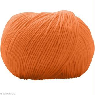 Fil DMC Natura Orange safran n°47 - 50 gr