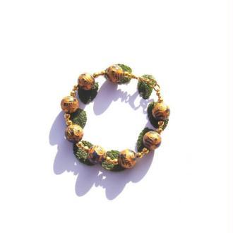Sous la Protection du Totem Dragon : Bracelet Lapis Réhaussé  19,5 CM