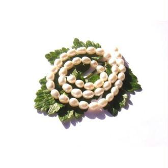 Perles d'Eau Douce : 10 Perles irrégulières 7/9 MM de longueur