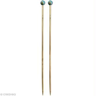 Aiguille à tricoter bambou - 7 mm - 1 paire