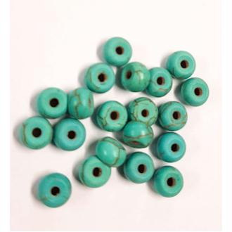 20 perle 6mm x 4mm Rondelle Naturel Pierre Turquoise creation bijoux, bracelet