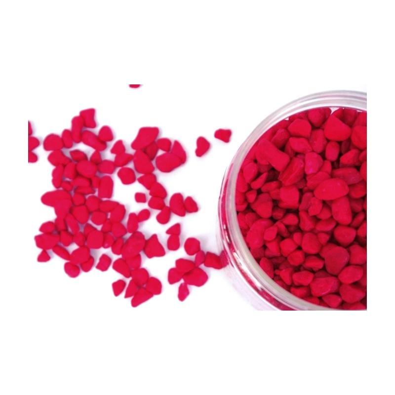 Cailloux d coratifs boite 700g graviers rouge 5 8mm - Cailloux decoratifs ...