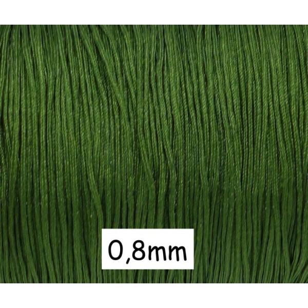 10m Fil De Jade 0,8mm Vert Olive - Fil Nylon Tressé - Jade String - Photo n°1