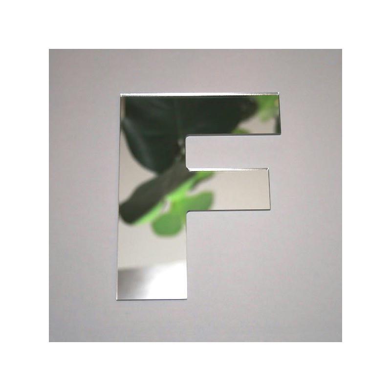 Miroir lettre f 1 x 8 cm miroir adh sif fantaisie for Miroir des modes