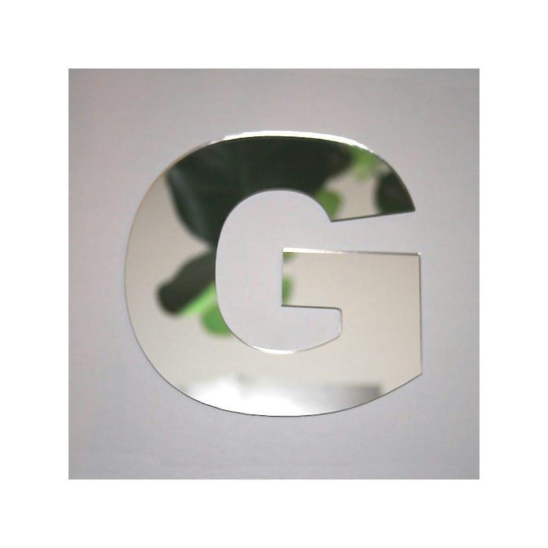 Miroir lettre g 1 x 8 cm miroir adh sif fantaisie for Miroir des modes