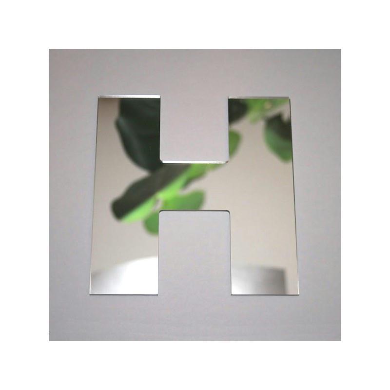 Miroir lettre h 1 x 8 cm miroir adh sif fantaisie for Miroir des modes