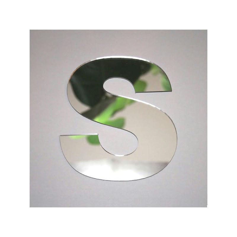 Miroir lettre s 1 x 8 cm miroir adh sif fantaisie for Miroir des modes