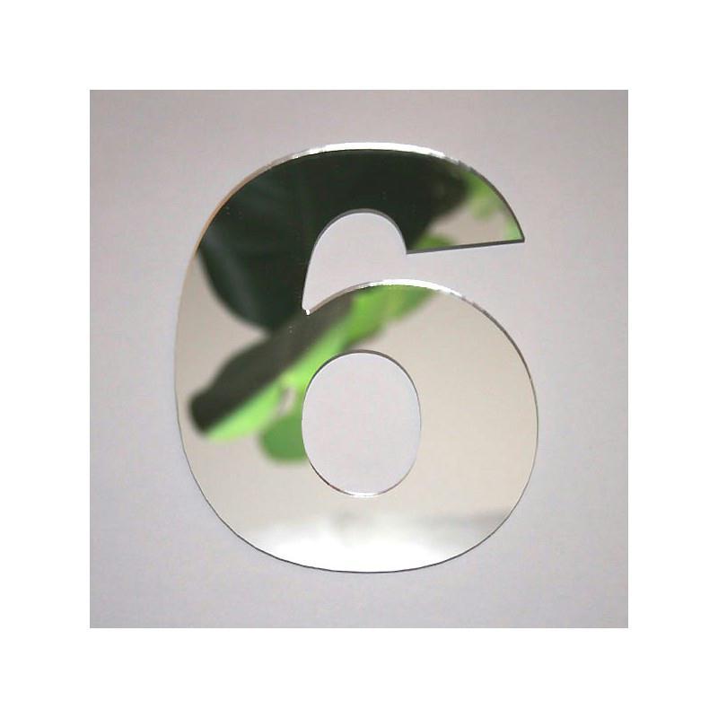 Miroir chiffre 6 1 x 8 cm miroir adh sif fantaisie for Miroir des modes