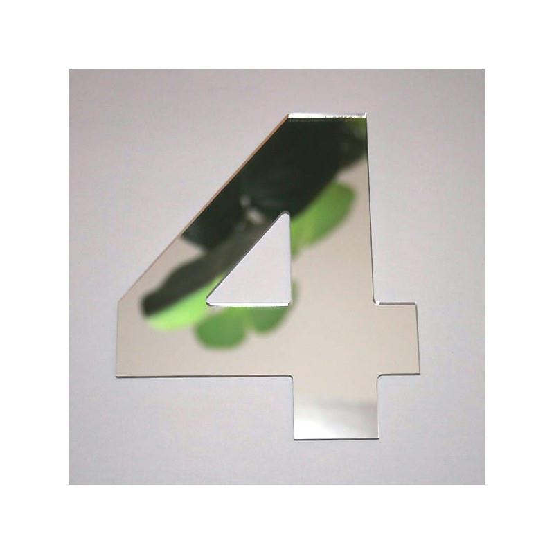 Miroir chiffre 4 1 x 8 cm miroir adh sif fantaisie for Miroir des modes