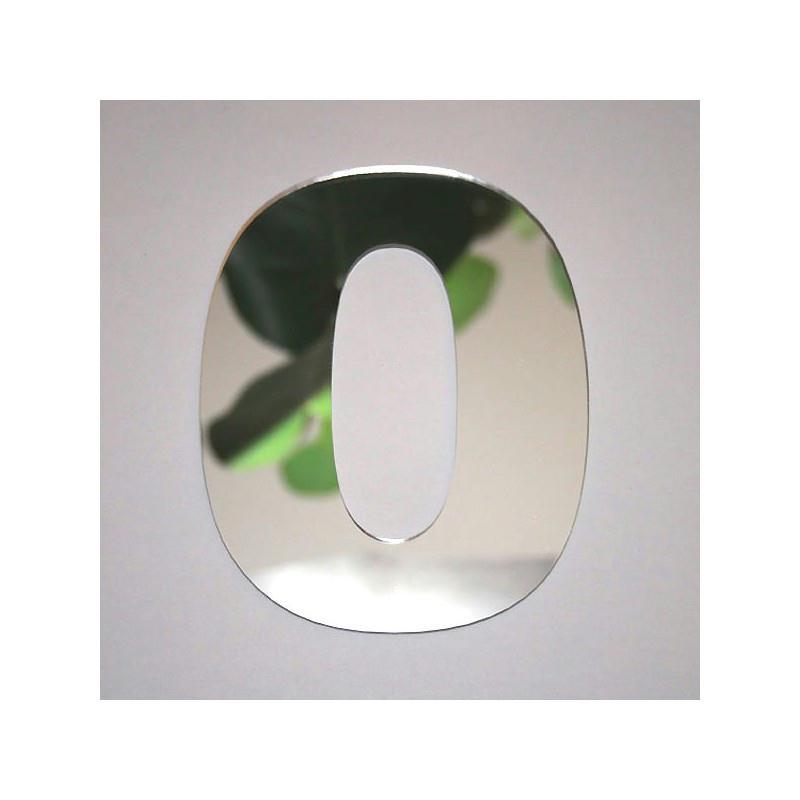 Miroir chiffre 0 1 x 8 cm miroir adh sif fantaisie for Miroir des modes