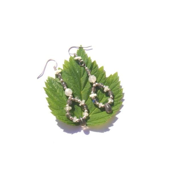 La Rosée des Fées : BO Pierre de Lune et Labradorite 6 CM de hauteur - Photo n°2