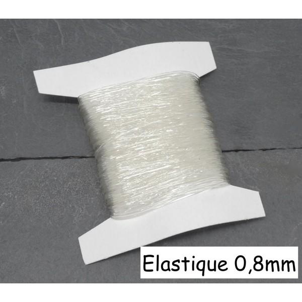 FIL ÉLASTIQUE TRANSPARENT 0,4mm 20M CRISTAL BOBINE