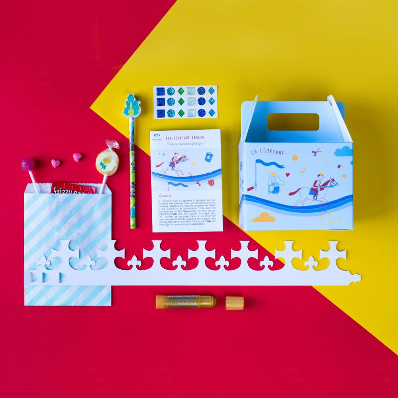 box enfant dragon kit anniversaire enfant creavea. Black Bedroom Furniture Sets. Home Design Ideas
