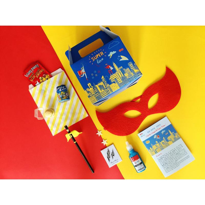 Box enfant super h ros kit anniversaire enfant creavea - Kit anniversaire super heros ...