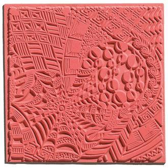 Plaque de texture pour pâte polymère Cernit (Plaque de texture DREAMS)