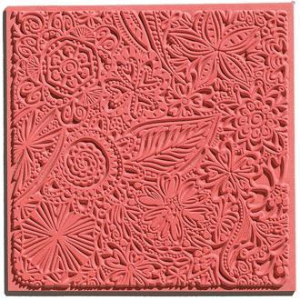 Plaque de texture pour pâte polymère Cernit (Plaque de texture FLOWERS)