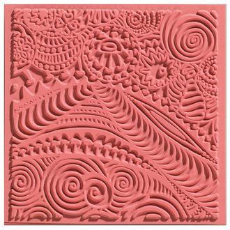 Plaque de texture pour pâte polymère Cernit (Plaque de texture FREESTYLE)