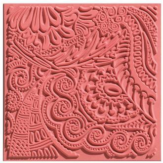 Plaque de texture pour pâte polymère Cernit (Plaque de texture MOMENTS)