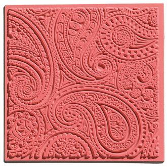 Plaque de texture pour pâte polymère Cernit (Plaque de texture PAISLEY)