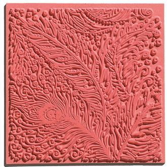 Plaque de texture pour pâte polymère Cernit (Plaque de texture PEACOCK)