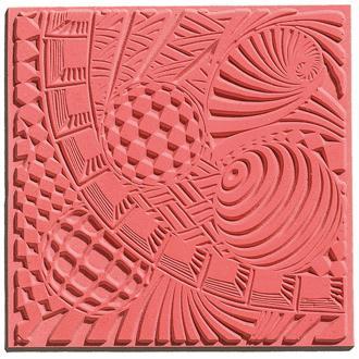 Plaque de texture pour pâte polymère Cernit (Plaque de texture SPACE)