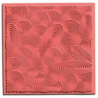 Plaque de texture pour pâte polymère Cernit (Plaque de texture SPIRALS)