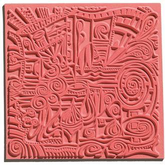 Plaque de texture pour pâte polymère Cernit (Plaque de texture VILLAGE)