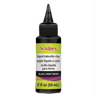 Polymère liquide Sculpey (Conditionnement 59 ml), (Couleurs Sculpey Liquide Noir)